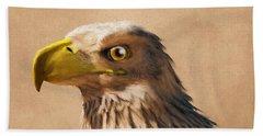 Beach Sheet featuring the digital art Portrait Of An Eagle by Daniel Eskridge