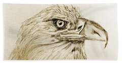 Portrait Of An Eagle Beach Towel