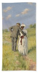 Portrait Of Captain William Holmes And Mary Shafter Mckitterick Beach Towel