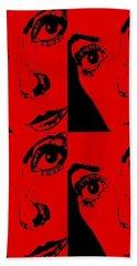 Portrait Of Catherine Pop Art Design Beach Towel