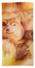 Portrait Of Chi Chi Beach Towel