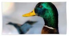 Portrait Of Duck 2 Beach Sheet