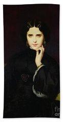 Portrait Of Jeanne De Tourbay Beach Towel