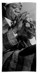 Portrait Of Louis Armstrong Beach Sheet