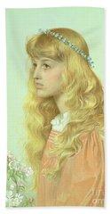 Portrait Of Miss Adele Donaldson, 1897 Beach Sheet by Anthony Frederick Augustus Sandys
