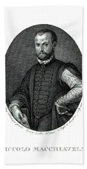 Portrait Of Niccolo Machiavelli  Beach Towel