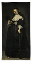 Portrait Of Oopjen Coppit, 1634 Beach Sheet