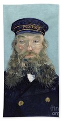 Portrait Of Postman Roulin Beach Towel