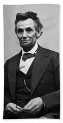 Portrait Of President Abraham Lincoln Beach Towel by International  Images
