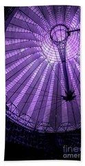 Portrait Of Purple Cosmic Berlin Beach Sheet