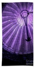 Portrait Of Purple Cosmic Berlin Beach Towel