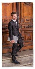 Portrait Of School Boy 1504256 Beach Sheet