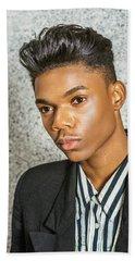 Portrait Of School Boy 15042652 Beach Sheet