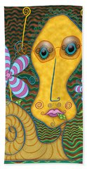 Portrait Of The Artist As A Young Snail Beach Towel