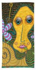 Portrait Of The Artist As A Young Snail Beach Sheet