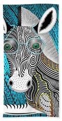 Portrait Of The Artist As A Young Zebra Beach Sheet