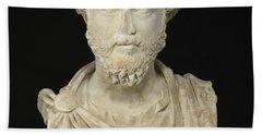 Portrait Of The Emperor Marcus Aurelius Beach Towel