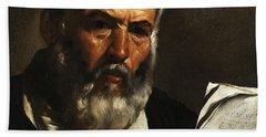 Portrait Of The Philosopher Anaximander Beach Towel