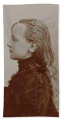 Portrait Of The Young Queen Wilhelmina Beach Towel