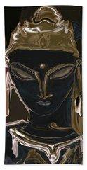 Beach Sheet featuring the digital art Portrait Of Vajrasattva by Rabi Khan