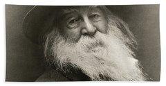 Portrait Of Walt Whitman Beach Towel