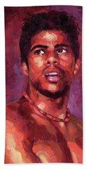 Portrait Of Young Brazilian Beach Towel
