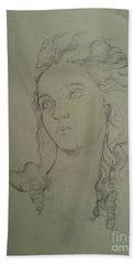 Portrait Of Elisabeth Vigee Le Brun Beach Sheet