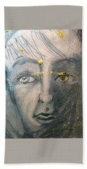 Portrait With Yellow Beach Towel