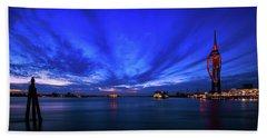 Portsmouth Blue Beach Towel by Mariusz Czajkowski