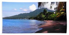 Portsmouth Shore On Dominica Filtered Beach Sheet