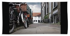Beach Towel featuring the photograph Portugal Place Cambridge by Gill Billington