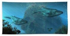 Beach Towel featuring the digital art Poseidon's Grave by Daniel Eskridge