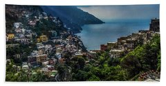 Positano By The Amalfi Coast Beach Towel