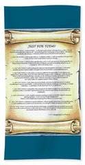 Positive Thinking- Just For Today Beach Sheet