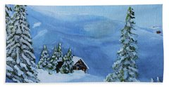 Beach Towel featuring the painting Post Blizzard Silence by Jack G Brauer