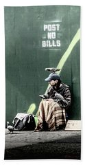 Beach Sheet featuring the photograph Post No Bills by Marvin Spates
