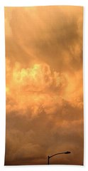 Sign Post Ahead - Storm Clouds Beach Towel