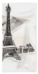 Postcards And Letters From Paris Beach Towel