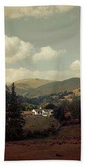 Postcards From Scotland Beach Sheet by Jaroslaw Blaminsky