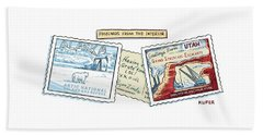 Postcards From The Interior Beach Towel