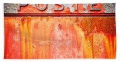 Poste Italian Weathered Mailbox Beach Towel by Silvia Ganora