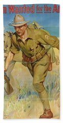 Poster, Men Wanted For The Army, 1914, United States, By Isaac Brewster Hazelton. Gift Of Department Beach Towel