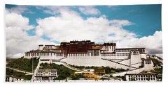 Potala Palace Dalai Lama Home Place In Tibet Kailash Yantra.lv 2016  Beach Towel