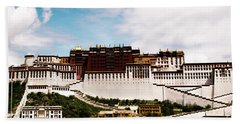 Potala Palace Dalai Lama Home Place. Tibet Kailash Yantra.lv 2016  Beach Towel