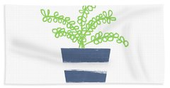 Potted Plant 1- Art By Linda Woods Beach Towel