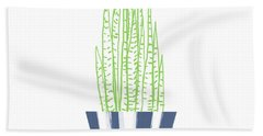 Potted Succulent 3- Art By Linda Woods Beach Towel