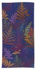 Beach Towel featuring the digital art Potter's Clay Ferns by Karen Dyson