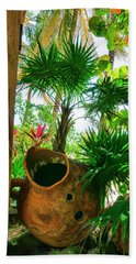 Pottery Ambergris Caye Belize Beach Towel