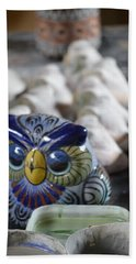 Pottery Bird Beach Towel