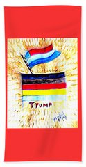 Potus For All Black Brown, Red, Yellow, White Beach Towel